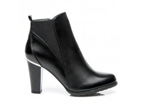 Štýlové topánky BOSHIMAO A1756B / R19B čierne veľ.č. 39, 40 (Veľkosť UK7 / EUR 40)
