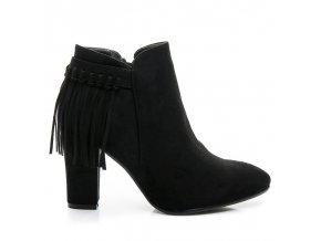 Topánky so strapcami - BOHO AF8647B / S2-82P čierne veľ.č. 41 (Veľkosť UK8 / EUR 41)