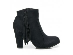 Topánky so strapcami - BOHO F916-1B / S3-101P čierne veľ.č. 37, 40 (Veľkosť UK7 / EUR 40)