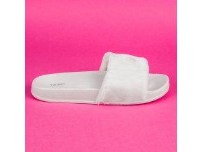 Biele papuče s kožušinou S27-41W
