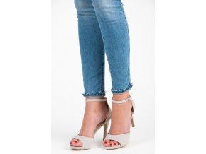 Semišové sandále na opätku YQE17-1738G