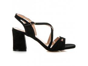 Elegantné čierne sandále T-840B