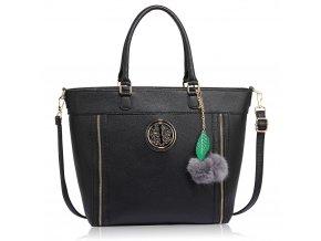 Shopper kabelka do ruky Lotty čierna LS00404