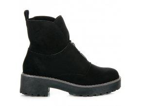 Čierne topánky na hrubej podrážke Vices 8313-1B