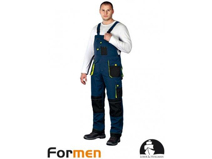 Pracovné nohavice s náprsenkou LH FMN-B GBY