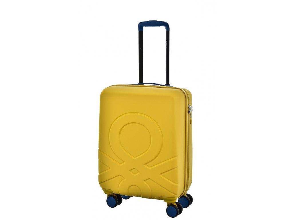 173536 6 cestovni kufr benetton ultra logo s zluta