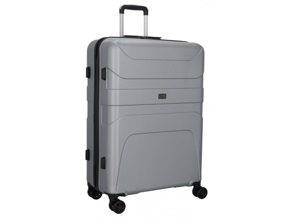 176221 4 cestovni kufr d n 4w l stribrna