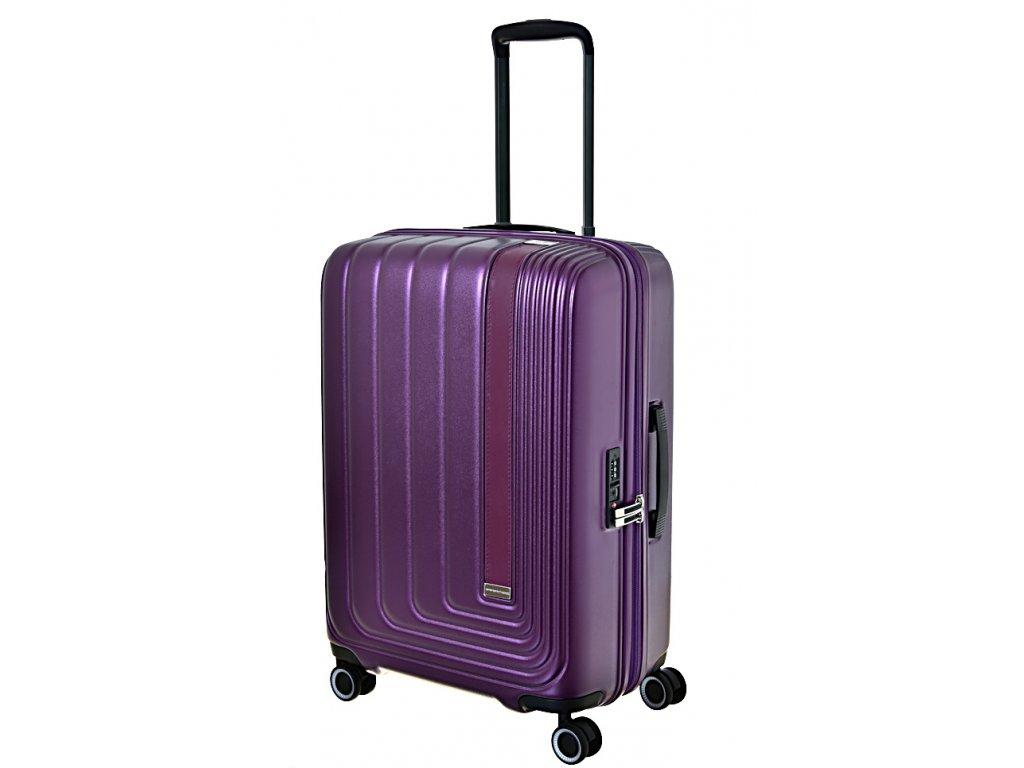 170170 7 cestovni kufr march beau monde m purple metallic