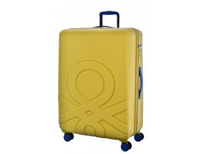 173560 6 cestovni kufr benetton ultra logo l zluta