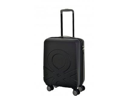 173524 6 cestovni kufr benetton ultra logo s cerna