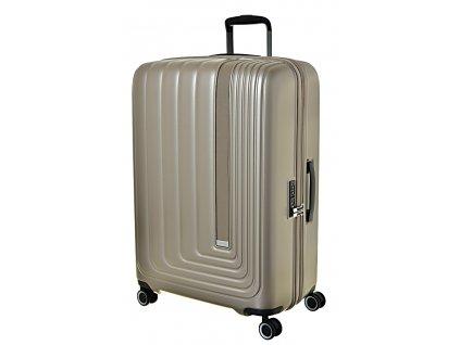 170188 7 cestovni kufr march beau monde l silver bronze metall
