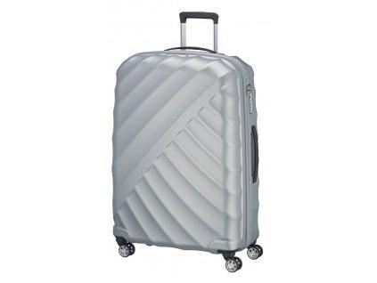 167338 4 cestovni kufr titan shooting star 4w l silver