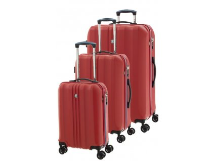 166861 1 cestovni kufry set 3ks dielle s m l cervena