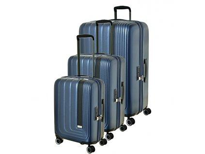 174205 1 cestovni kufry set 3ks march beau monde s m l modra