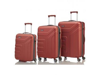 170854 1 cestovni kufry set 3ks travelite vector s m l red