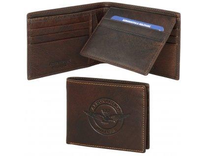 AM122 portafoglio uomo pelle con divisorio porta carte di credito moro marrone 1024x1010