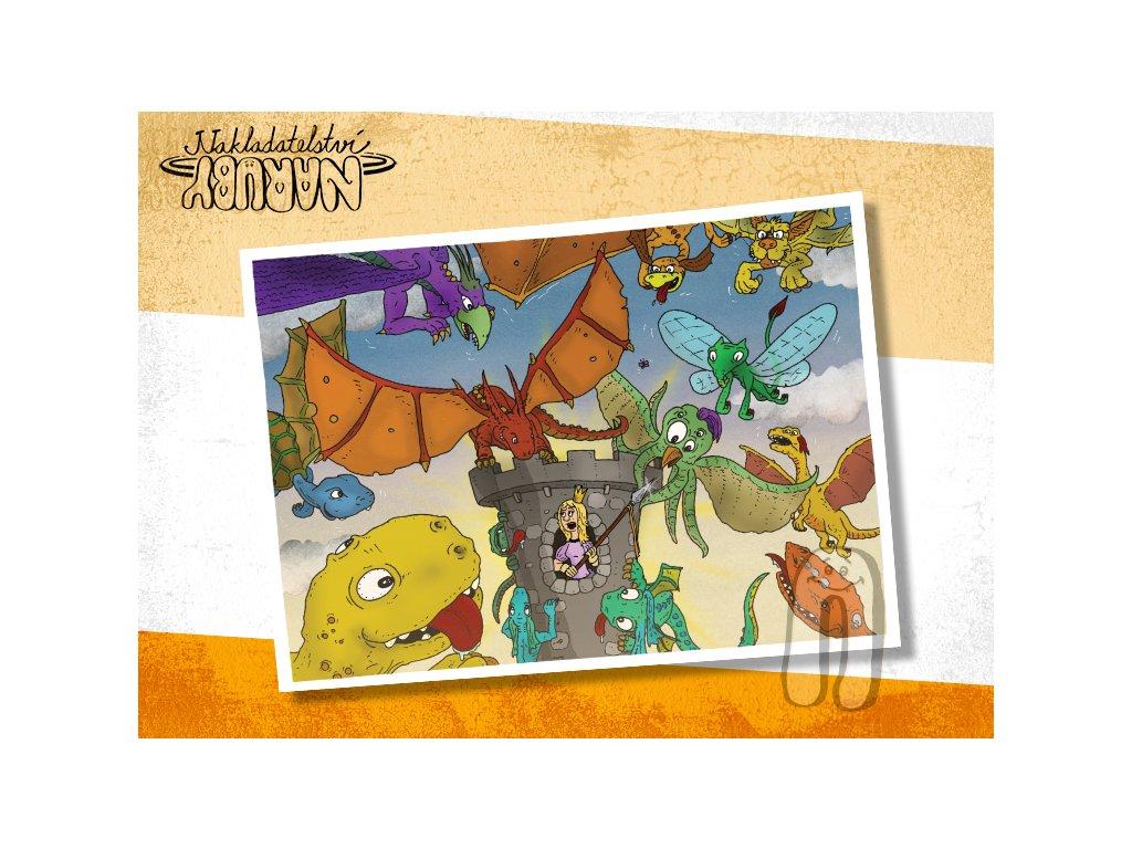 Prezentace pohlednic Pohádky naruby Draci