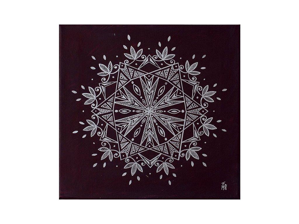 Stříbrná mandala - obraz