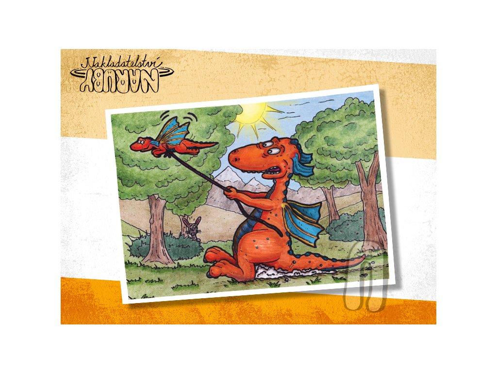 Prezentace pohlednic Dračí prťata Lekce létání