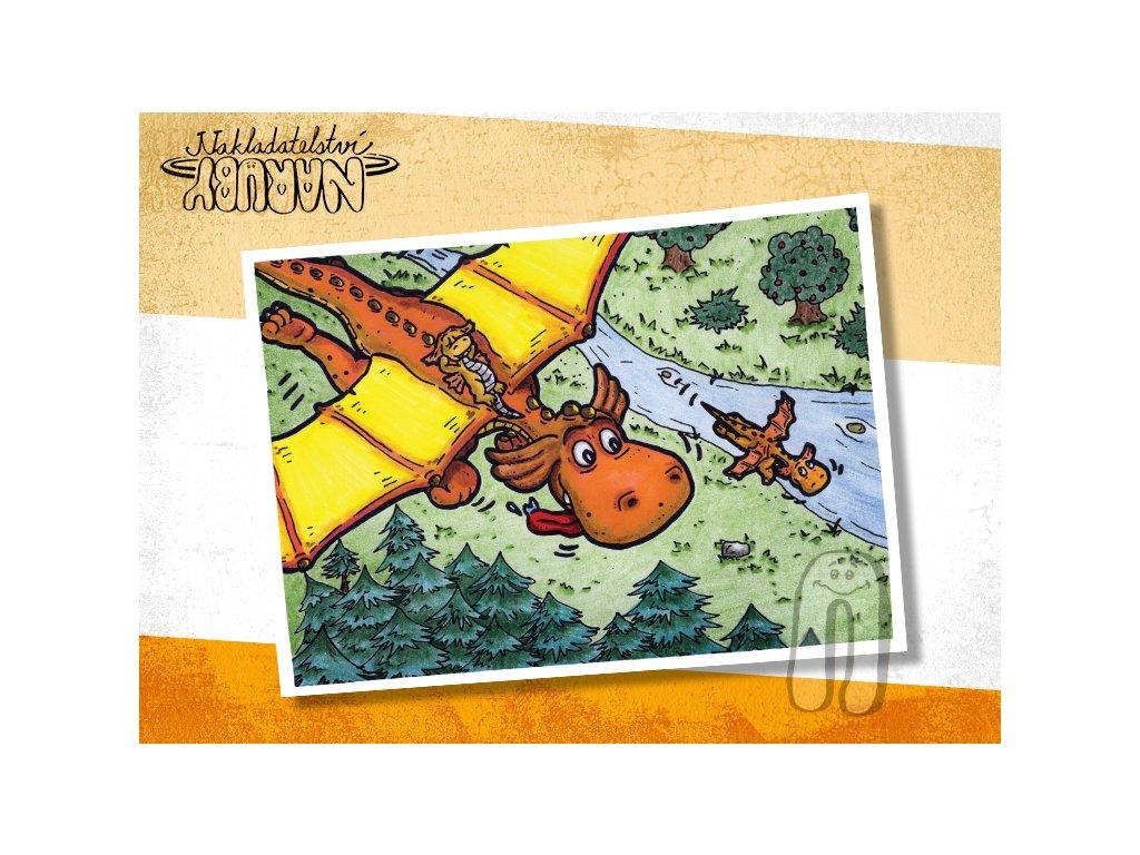 Prezentace pohlednic Dračí prťata Vyhlídkový let