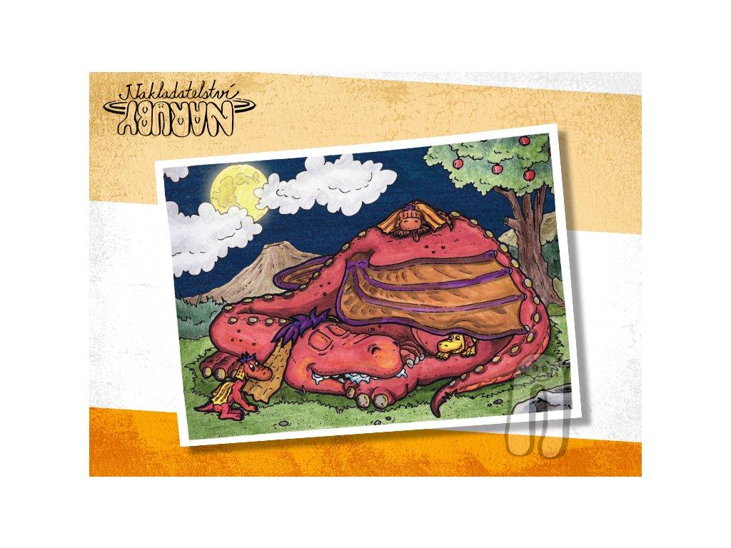 Prezentace pohlednic Dračí prťata Noční pohoda