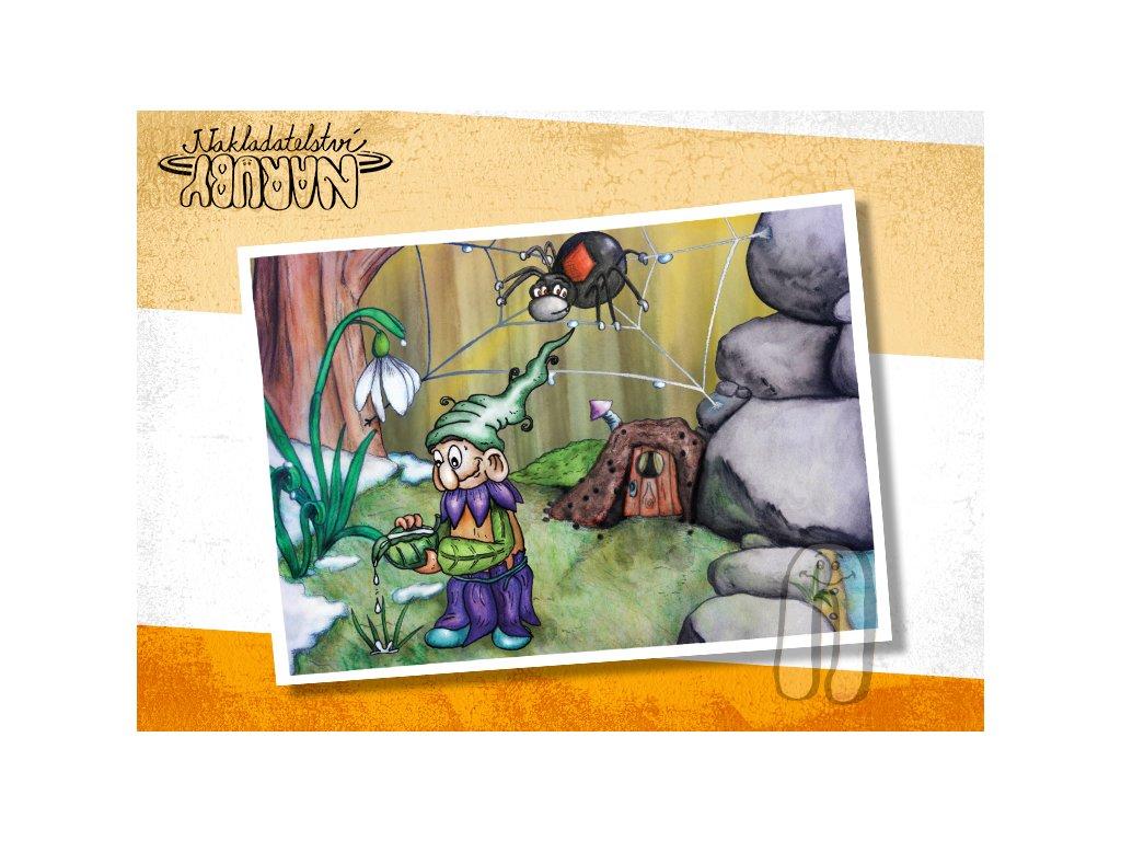 Prezentace pohlednic Roční skřítci Jarníček