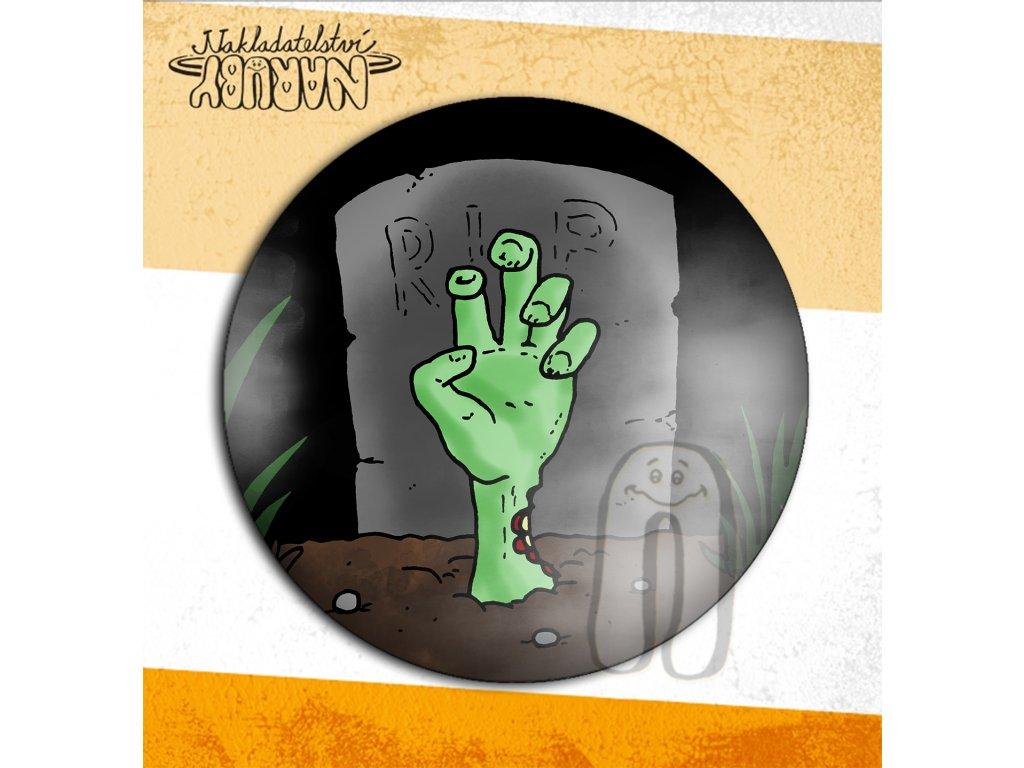 Prezentace placek zombí ruka