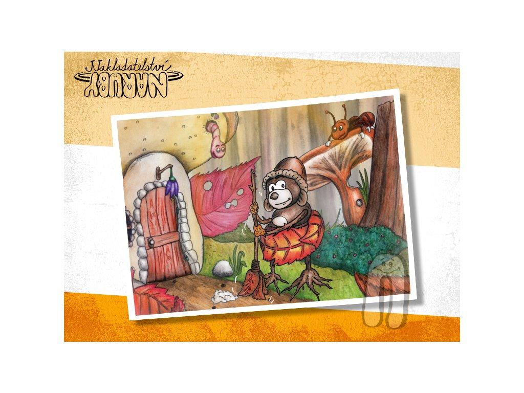Prezentace pohlednic Roční skřítci Podzimda