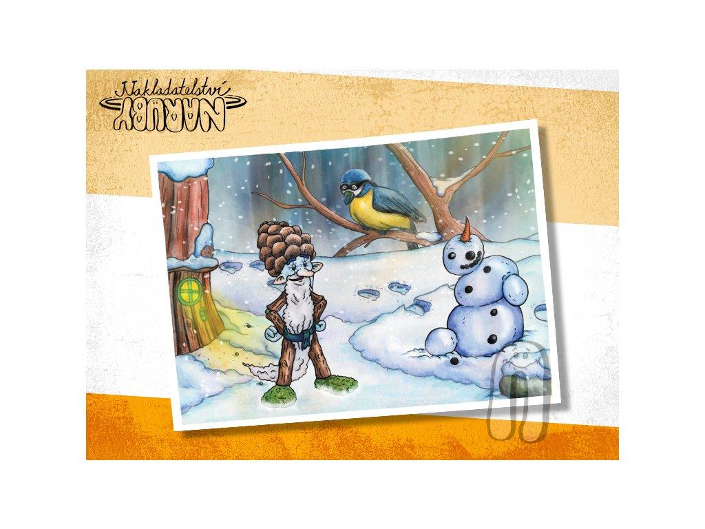 Prezentace pohlednic Roční skřítci Zimouš