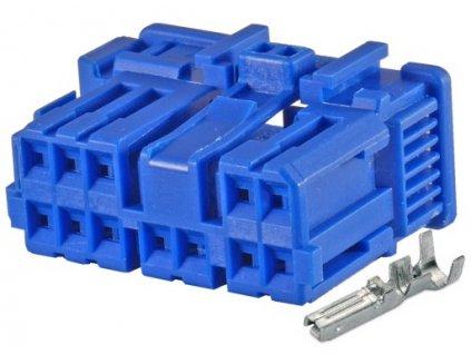 Konektor Iveco Daily 2000 modrý do el. centrály světel