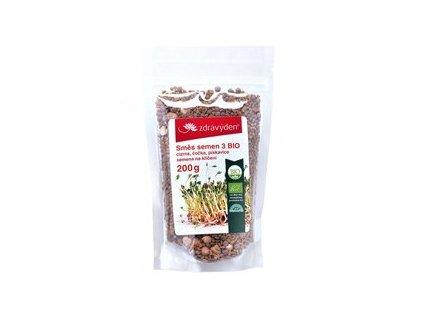 Směs semen na klíčení 3 BIO cizrna, čočka, pískavice 200g