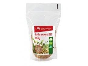 Zdravý den Směs semen na klíčení 1 BIO - alfalfa, ředkvička, mungo 200g