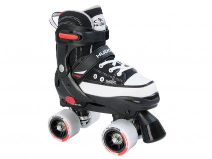 Kolieskové korčule HUDORA Roller Skate, čierne, veľ. 28-35