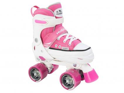 Kolieskové korčule HUDORA Roller Skate, ružové, veľ. 28-35