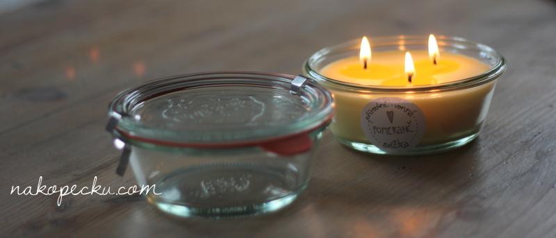 přírodní svíčky