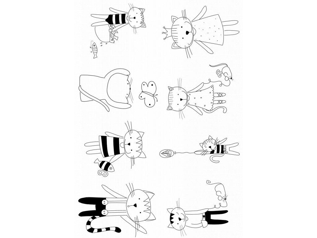 samolepky kočičky 1
