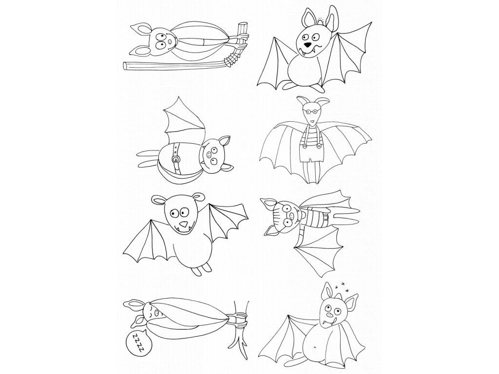 samolepky netopýři