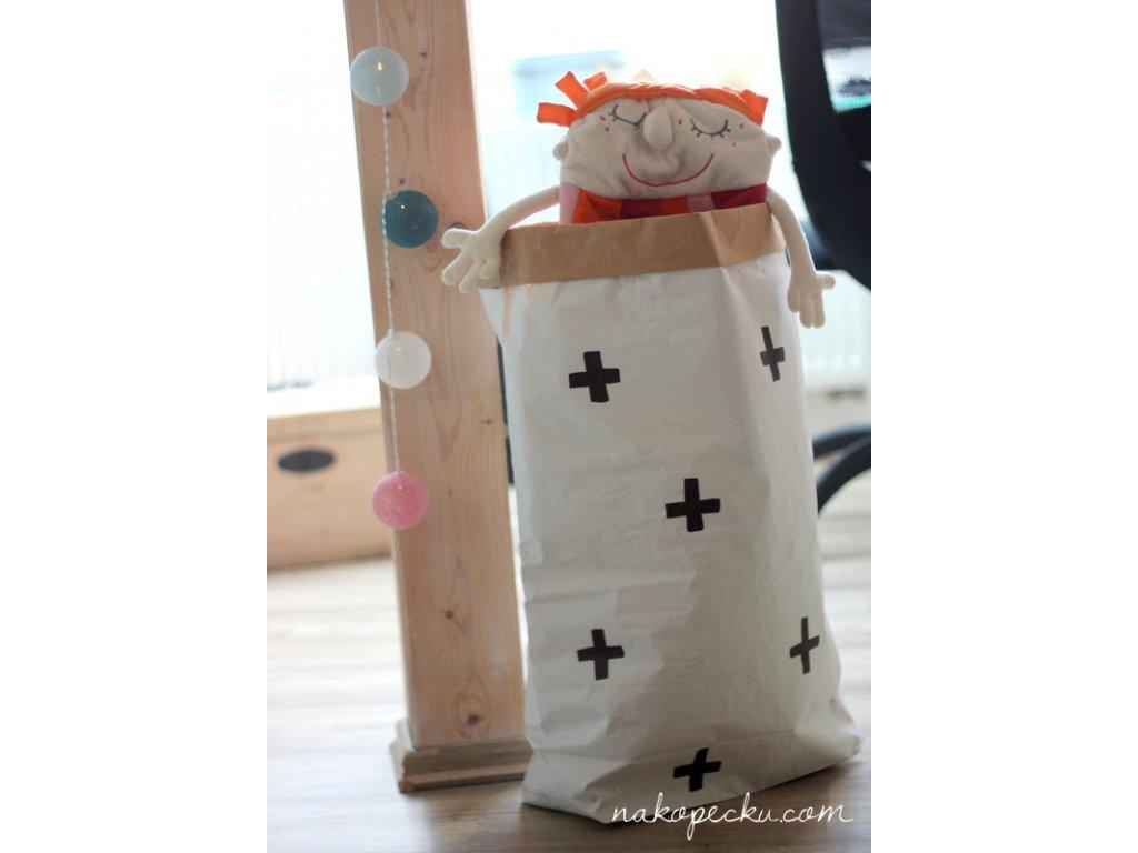 úložný papírový pytel - křížky