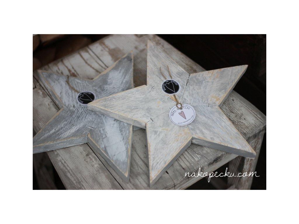 Dřevěná hvězda - velká