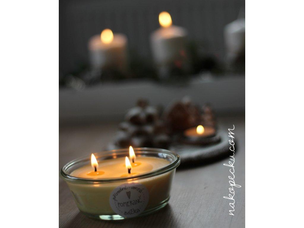 Přírodní svíčka Pomeranč (300 ml)