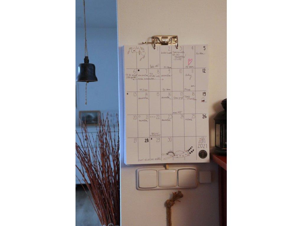 rodinný kalendář 2021 bez mechaniky