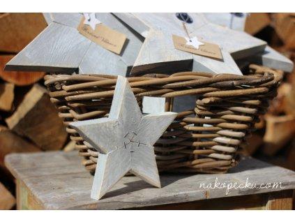 Dřevěná hvězda - malá