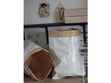 úložný papírový pytel - čistý bez vzoru