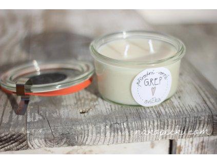 Přírodní svíčka Grep (165 ml)
