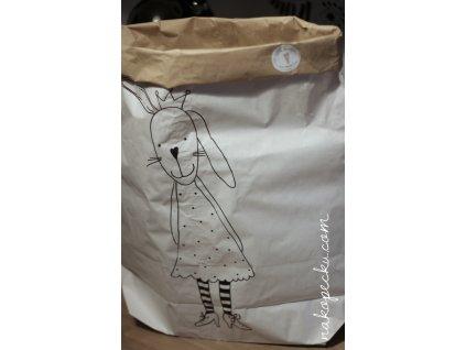 úložný papírový pytel - králičí slečna