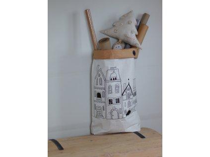 úložný papírový pytel - domečky