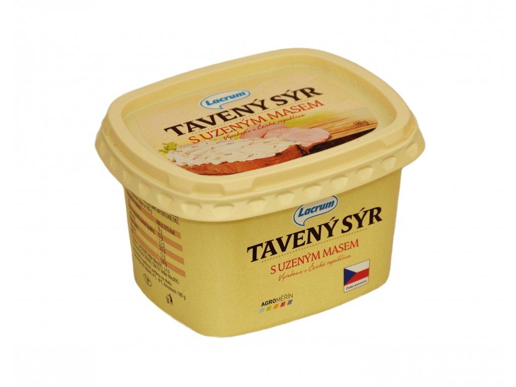 Tavený sýr s uzeným masem 180g