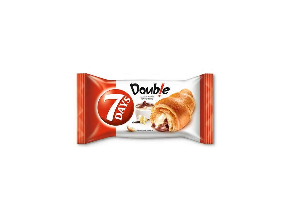 7Days Croissant double kakao-vanilka 60 g