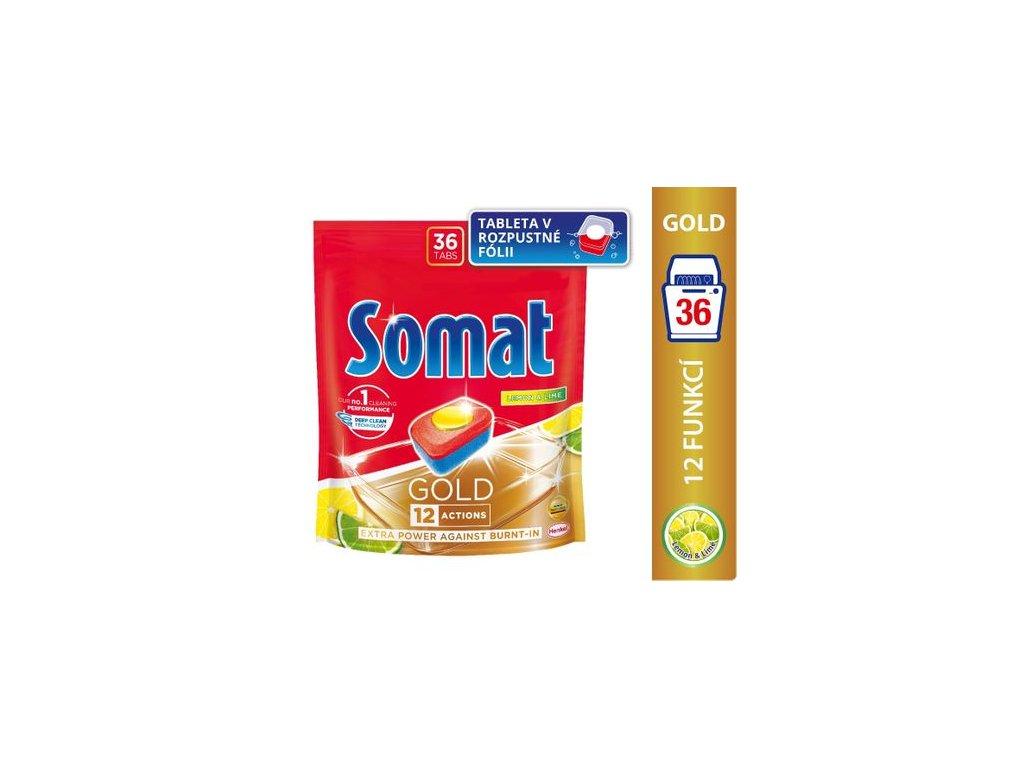 Somat Gold Lemon & Lime tablety do myčky 36 ks