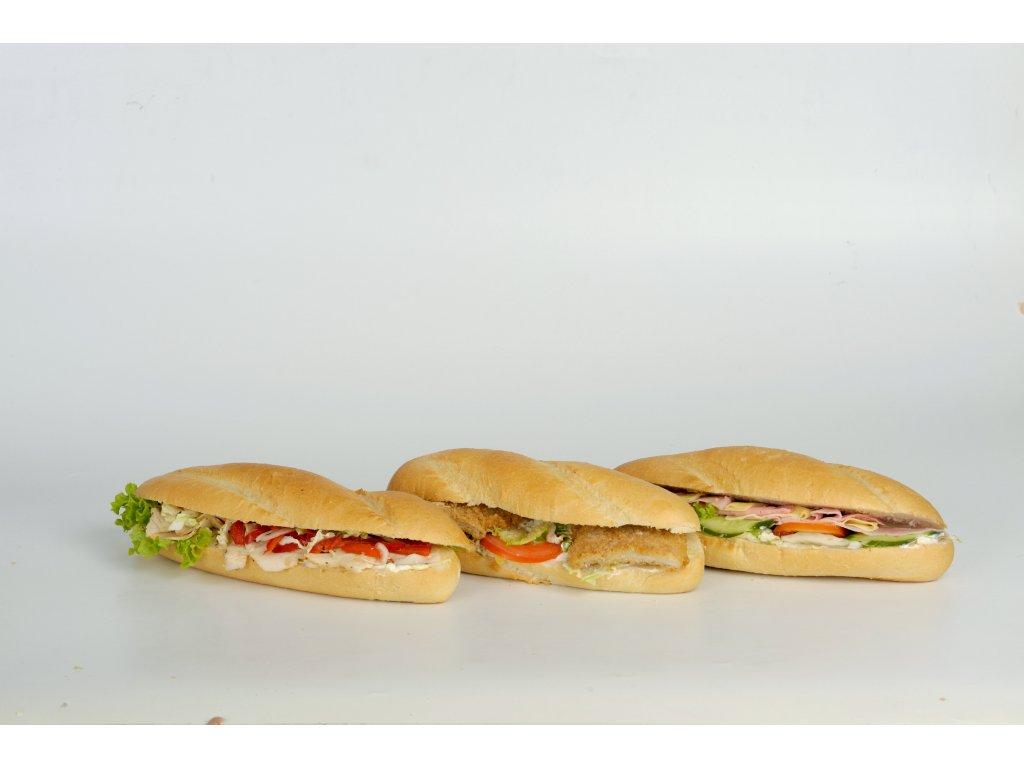BAGETA kuřecí, gyros 1 a 2 na obrázku